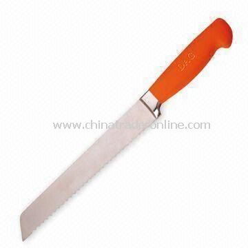 Bread Knives with 1.5mm Thickness and Silicone Soft Handle