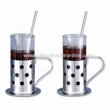 Coffee Mugs with Capacity of 280ml, Made of Glass from China