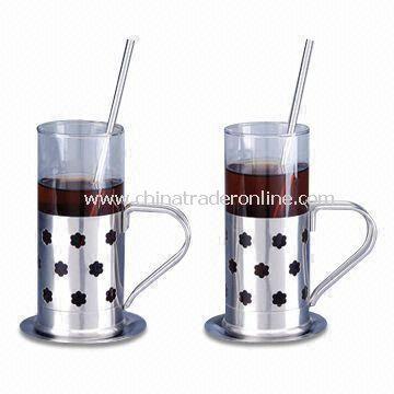Coffee Mugs with Capacity of 280ml, Made of Glass