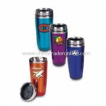 Double-layered Advertisement Mug, Customized Sizes are Accepted, Printed with Favorite Logos