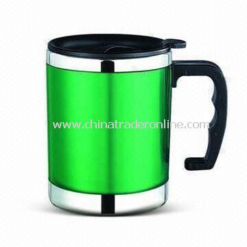 Double Wall Auto Mug with 16oz Capacity and S/S Inner, Customized Logos are Accepted