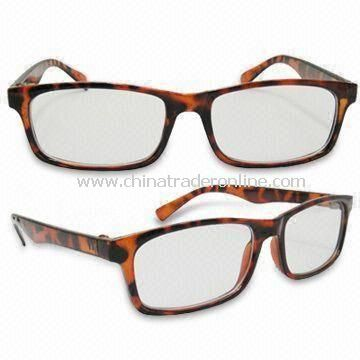 Fashionable Reading Glasses with 1 to 4W Power, Various Colors are Available