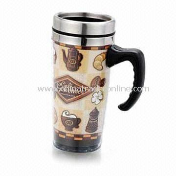 Insert Paper Mug, Advertising Mug, Double Wall Construction, Suitable for Promotion