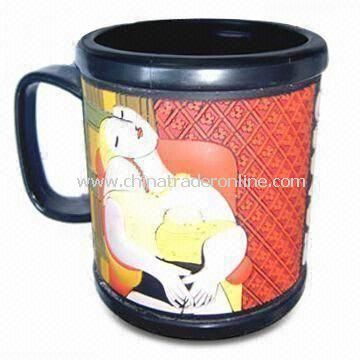 PVC Mug with Pictures, Suitable for Promotional Purposes, Customized Designs and Sizes are Accepted