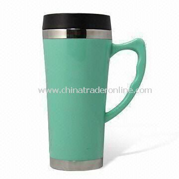 Travel Mug, Made of Stainless Steel, Available in Capacity of 450ml