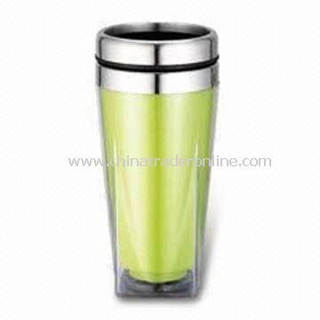 Travel Mug with AS Outer and 16oz Capacity, Made of Stainless Steel