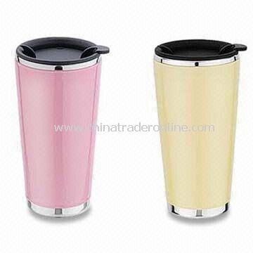 Travel Mugs, Customized Designs and Logos are Accepted