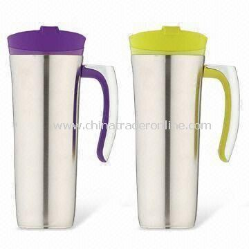 Travel Mugs, Made of Stainless Steel, Available in Capacity of 16oz