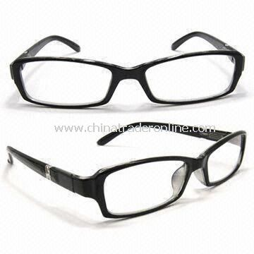 1.00 to 4.00D Reading Glasses with Saddle Nose Bridge, Fashionable Design, Made of Plastic