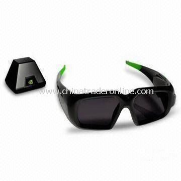3D Glasses, Customized Shapes and Sizes are Welcome, with ABS Plastic Frame