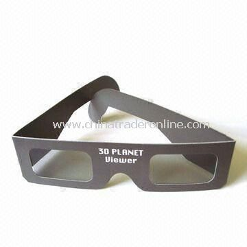 3D Glasses with Paper Frames/Polarized Lens, For Viewing Movies, Available in Various Paper Colors