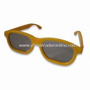 3D Glasses with Plastic Glasses, Customized Shapes and Sizes are Welcome