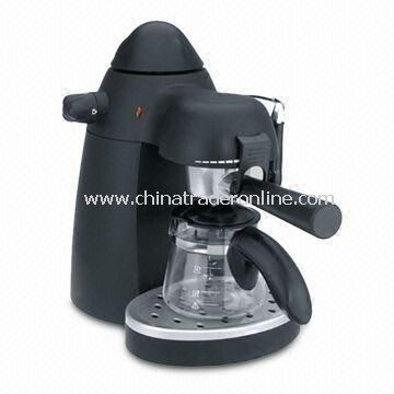 4 Bar Espresso Coffee Maker with 750W Power and 240ml Glass Carafe Capacity