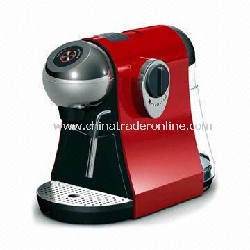 Capsule Espresso Machine with Manual Coffee Volume Control and Blinking Backlit Button