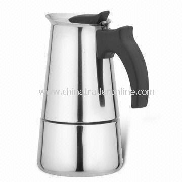 Dishwasher Safe Valve Espresso Coffee Pot, Available in Various Capacities