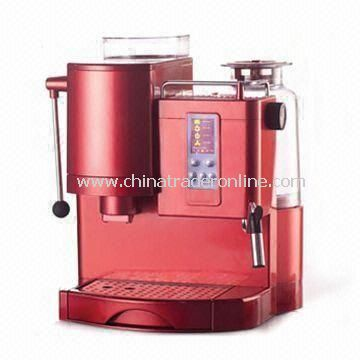 Espresso Coffee Maker, Easy to Operate with a LCD Screen