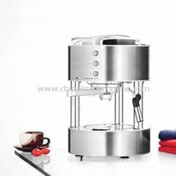 Espresso Coffee Maker with 920 to 1,080W Power and Power/Brewing/Steam Light Indicator