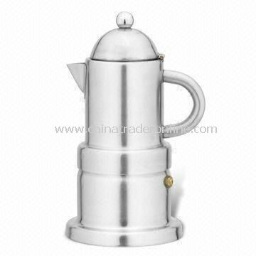 Espresso Coffee Maker with Shinning Body, Made of Stainless Steel, Available in Various Sizes