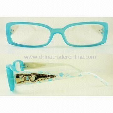 Fashionable Plastic Reading Glasses with Metal Ornaments at the Temple from China