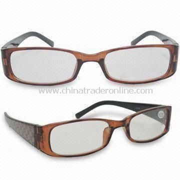 Fashionable Reading Glasses, Made of Temple, Available in Various Sizes