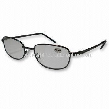 Fashionable Reading Glasses with Spring Hinge and Steel Frame
