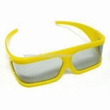 Plastic Circular Polarized 3D Glasses with 99.7% Polarized Efficiency, Made of ABS from China