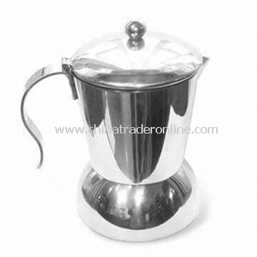Stainless Steel Espresso Coffee Percolator with Safety Valve and Polishing Body