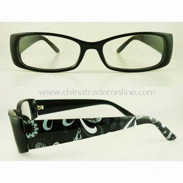 Stylish Plastic Reading Glasses with Pretty Pattern on the Temple
