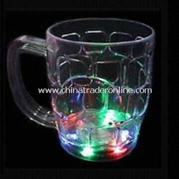 500mL LED Flashing Beer Glass with 10 Hours Flashing Time and Three-piece AG13 Battery
