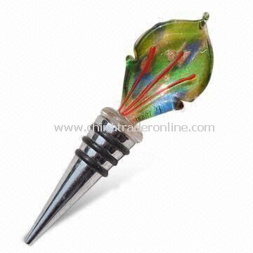 Bottle/Champagne Stopper, Available in Various Styles and Colors, Made of Alloy and Glass