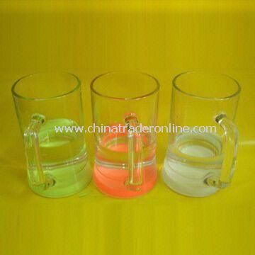 Glow Glass Beer Mugs, Measures 130 x 75mm, Different Styles are Available