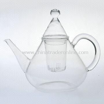 Borosilicate Glass Teapot with Heat Resistant Feature and Mouth Blown Craft