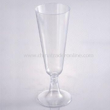 Champagne Flute, Made of PS Material with 150mL Capacity, 18g Weight and 36 Sets/Carton Quantity