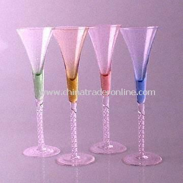 Champagne Glasses in Modern Design, Different Colors Available