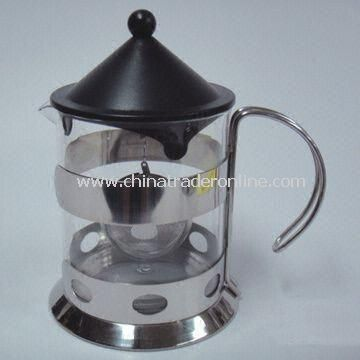Glass Tea Maker with Heat-Resistant and 1,200mL Capacity