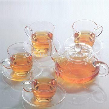 Heat-resistant Glass Teapot and Cups, Made of Borosilicate Glass, Can be Heated Directly on Fire