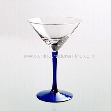 Martini Glass with Blue Stem