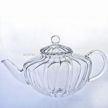 Mouth-blown Glass Teapot with Heat-resistant Feature