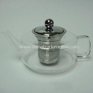 Pyrex Glass Tea and Coffee Pot with 450mL Stainless Steel Filter