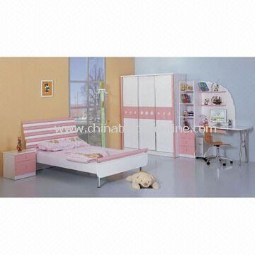 Bed Set, Composed of Bed Stand, Wardrobe and Computer Desk/Chair, Various Sizes are Available