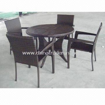 Hotel Furniture Set with Weather-resistant Cushion, Made of Aluminum Frame and PE Rattan