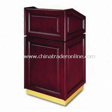 Rostrum, Comes in Peach Wood and Brass Color, Measures 660 x 600 x 1,200mm