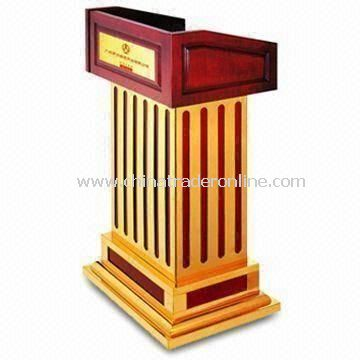 Rostrum with Oil-painted Finish, Measures 680 x 500 x 1,200mm