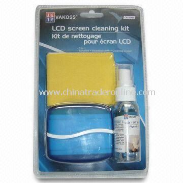 Cleaning Kits for LCD, Includes 40ml Gel, 15 x 15cm Chammy Fabric and Multifunctional Brush