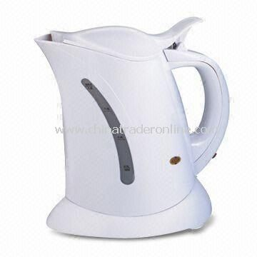 Electric Kettle, Made of Plastic, Available in White
