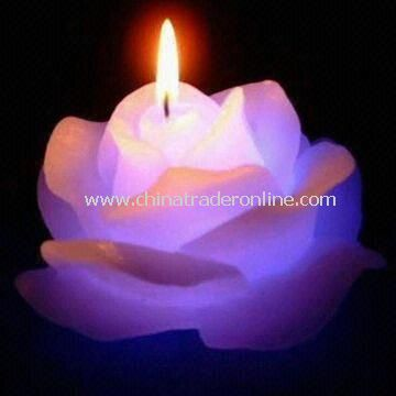 Flower Craft Candle in Rose Shape Design, Suitable for Decoration and Collection from China