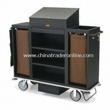 Housekeeping Cart with 2.5-inch Deep Top Box and 30 x 42-inch Steel Cabinet