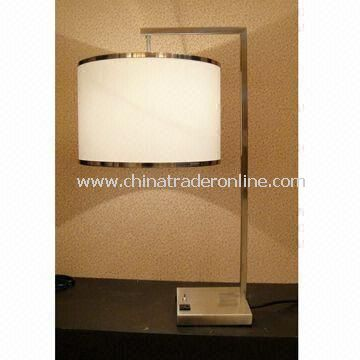 Table Lamp, Suitable for Hotel, Guest Room Purpose, Double Socket is Available