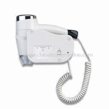 Wall Mounted Hair Dryer with 1,200W Power Consumption, Suitable for Hotel Guest Room Use