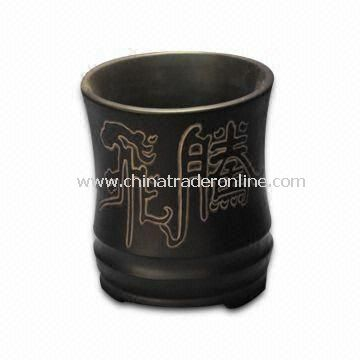 Black Small Pen Stand with Vivid Design, Ideal for Decoration, Gift and Collection